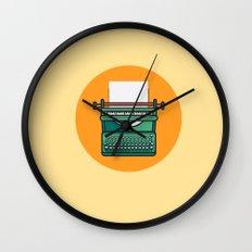 Typewriter Icon Wall Clock