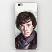 sherlock holmes iPhone & iPod Skins featuring Sherlock Holmes by Olechka
