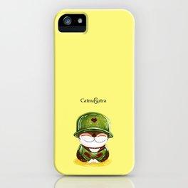 Soldier cat iPhone Case