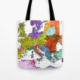 The Peoples of Europe According to Ptolemy Tote Bag