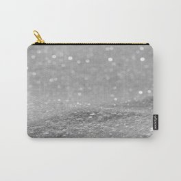 Glitter Silver Carry-All Pouch