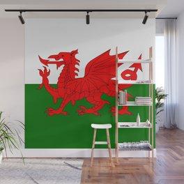 Welsh Dragon Flag Wall Mural