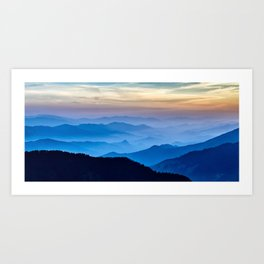 Beautiful Blue Sky Mountains Art Print