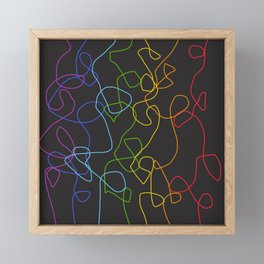 Crooked Lines #2 Framed Mini Art Print