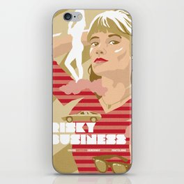 80s TEEN MOVIES :: RISKY BUSINESS iPhone Skin