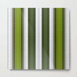 Green Embossed lines Metal Print