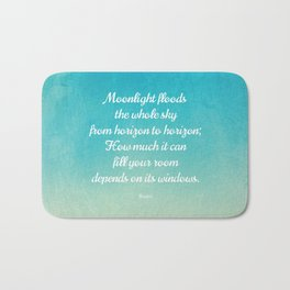 Moonlight Floods the Whole Sky - Beautiful Quote by Rumi Bath Mat