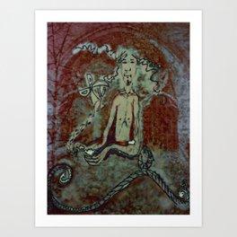 The maker. Ink on Digital Print by Jain McKay. Art Print