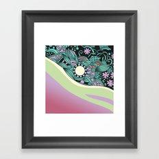 Soft pastel square ornament Framed Art Print