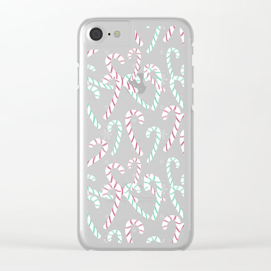 Frosty Canes Clear iPhone Case