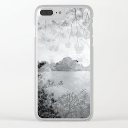 Cherry Blossoms at the Tidal Basin in DC - Holga Double Exposure Clear iPhone Case