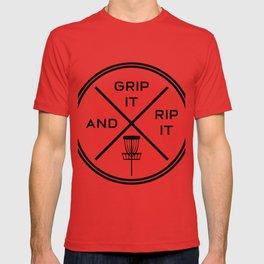 Disc Golf Shirt Discgolf Frisbee Grip It Rip It T-shirt