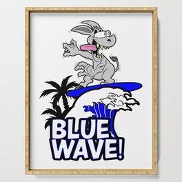 Blue Wave Design for Liberal Democrat 2018 Voters Serving Tray