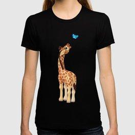 Cute little giraffe. Vector graphic character T-shirt