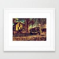 mercedes Framed Art Prints featuring Cele Mercedes by Flashbax Twenty Three