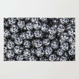 It's Full of Disco / 3D render of hundreds of shiny mirror balls Rug