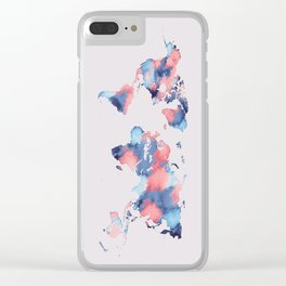 map world map 58 Clear iPhone Case