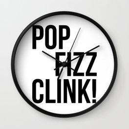 Pop Fizz Clink! Wall Clock