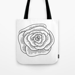 Isolated Rose Tote Bag