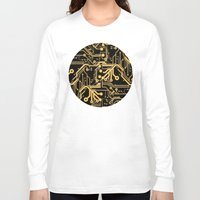 techno Long Sleeve T-shirts featuring Techno Organic  by Leigh Wortley