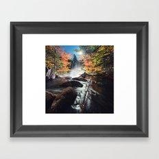 Flowing into the Moonlight Framed Art Print