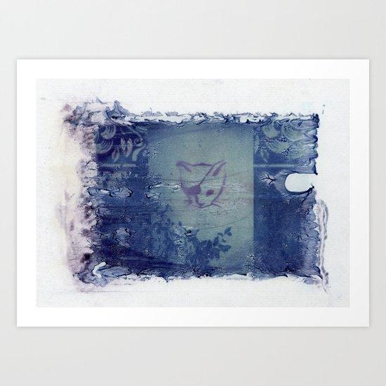 Here Kitty Kitty Polaroid Transfer Art Print