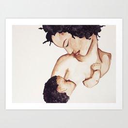 Black Women Do Breastfeed Art Print