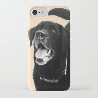 labrador iPhone & iPod Cases featuring Labrador Happy by Jennifer Warmuth Art And Design