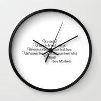 battlefield Wall Clocks featuring Battlefield-Lea Michele by Jessie Bouyea