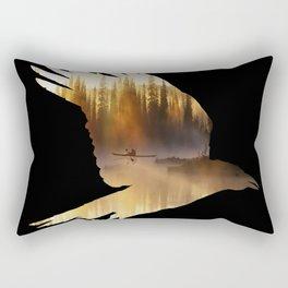 Crow Mystic River - II - dark background Rectangular Pillow