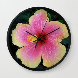 Prismatic Petals Wall Clock