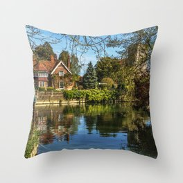 Backwater Goring on Thames Throw Pillow