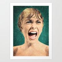psycho Art Prints featuring Psycho by Taylan Soyturk