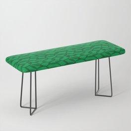 Overlapping Leaves - Dark Green Bench