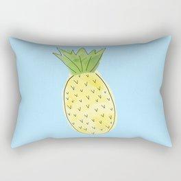 Pineapple Light Blue Rectangular Pillow