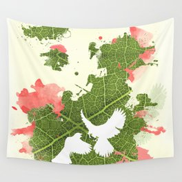 Leaf Bird Wall Tapestry