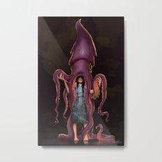 Squid Gir Metal Print