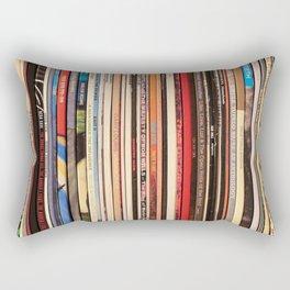 Alt Country Rock Records Rectangular Pillow