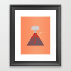 I Think I Lava You Framed Art Print