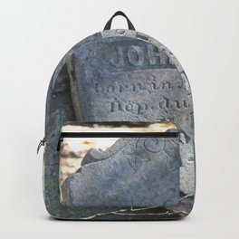 French-German tombstone: Munsch 1830-1894 Backpack