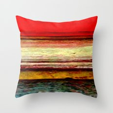 Sunset in Bali Throw Pillow