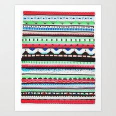 Pattern Doodle Three Art Print