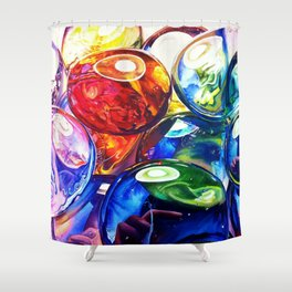 Glass Gems Shower Curtain