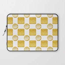 Savoury Biscuits Polka Dot Pattern Laptop Sleeve
