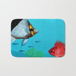 Butterfly & Bigeye fishes Bath Mat