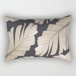 Sepia Banana Leaves Dream #1 #foliage #decor #art #society6 Rectangular Pillow