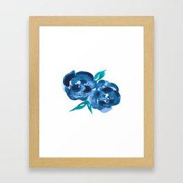 Blue Blooms Framed Art Print