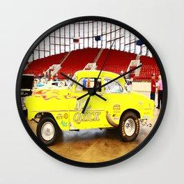 Yellow Roadster Wall Clock