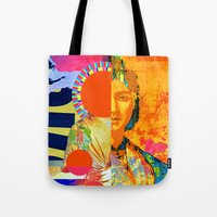 half life Tote Bags featuring half-life by Robert Alan