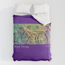 Bicycle Therapy Duvet Cover